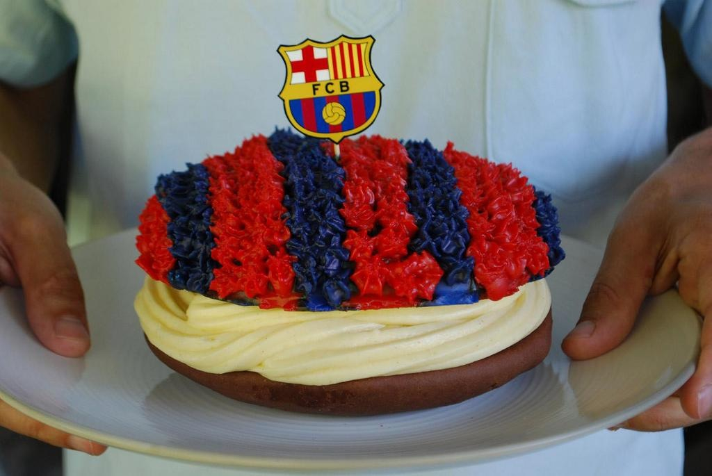 Barca Cake Discovered By Mrs Guardiola
