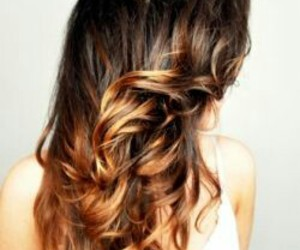 hair, pretty, and brunette image