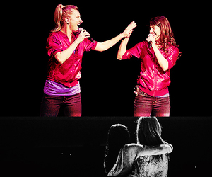 glee, lea michele, and heather morris image