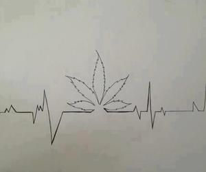 weed and heartbeat image