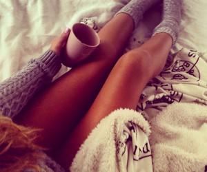 fall, girl, and morning image