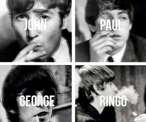 george harrison, smoke, and the beatles image