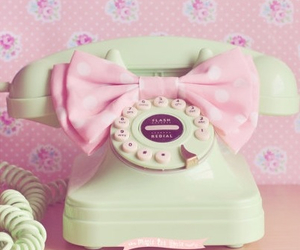 pink, vintage, and phone image