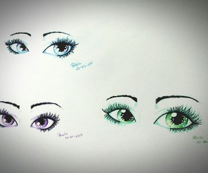 drawing, eyes, and eye drawing image