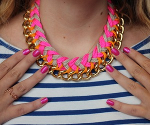 necklace, diy, and nails image