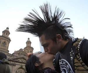 street punk and chile kiss protest image