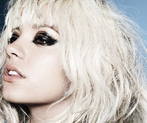 lily allen, blonde, and makeup image