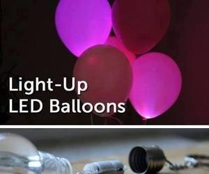 diy, balloons, and light image