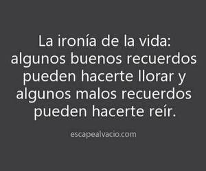 ironia, frases, and memories image