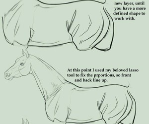 body, drawing, and horse image