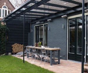 glass roof, glass roof pergola, and glass roof gazebos image