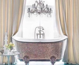 bathroom, home, and bathtub image