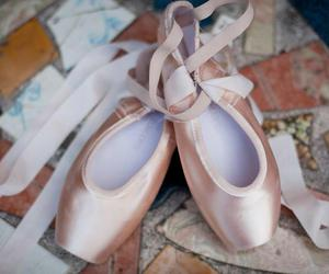 ballet, beautiful, and pointe shoes image