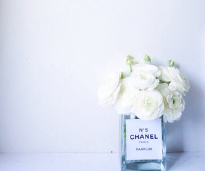 flowers, chanel, and perfume image