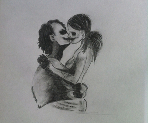 couple, pencil, and love image