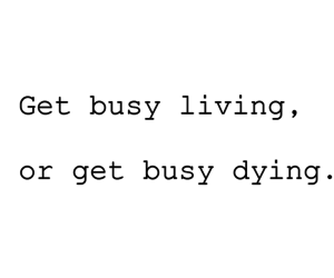 busy, dying, and life image