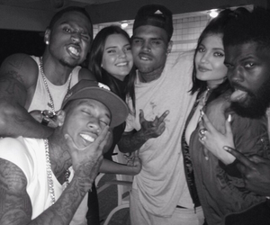 kendall jenner, kylie jenner, and chris brown image