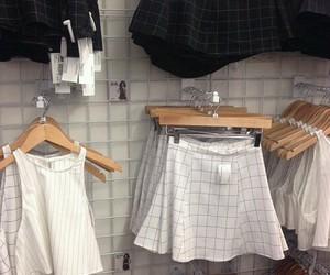 grunge, skirt, and white image