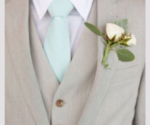 wedding, groom, and suit image