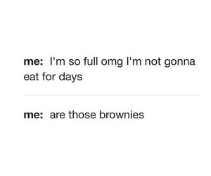food, brownies, and funny image