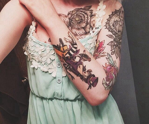 body, Tattoos, and body art image