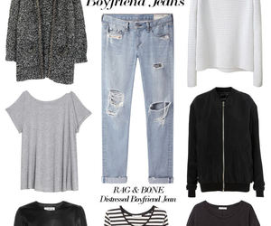 boyfriend jeans and fashion image