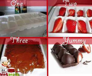 diy, chocolate, and strawberry image