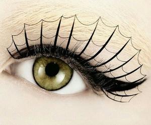 eye, eyelashes, and Halloween image