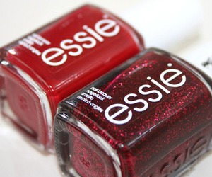 essie, nails, and red image