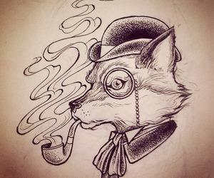 animal, draw, and fox image