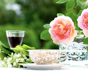 flowers and tea image
