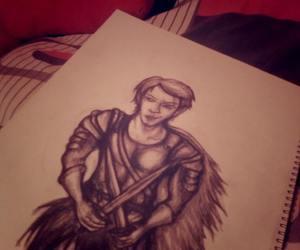 angel, art, and artwork image