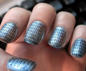 nails, numbers, and binary image