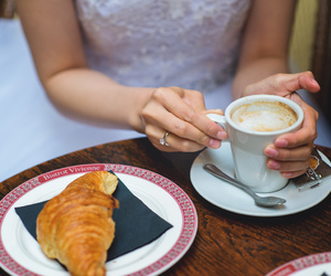 coffee, paris, and engagement ring image