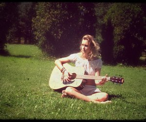 girl, guitar, and summer image