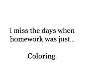 homework, coloring, and school image