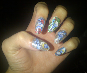 nails, katy perry, and smurfs image