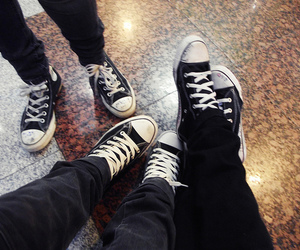 black, converse, and girls image
