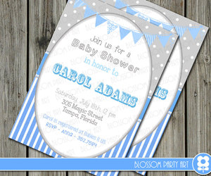 baby, decor, and invitation image