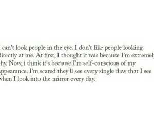 flaw, mirror, and shy image