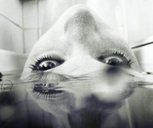girl, water, and eyes image