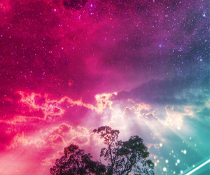 sky, galaxy, and colorful image