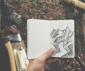 art, drawing, and forest image