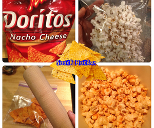 popcorn, doritos, and snack hack image