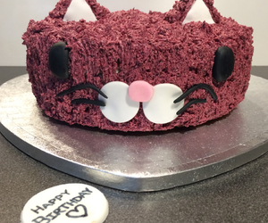 birthday cake, cake, and cat image
