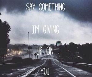 say something, Lyrics, and music image