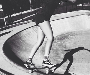 girls, vans, and skate image