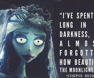 corpse bride, quote, and Darkness image