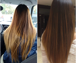 hair, ombre, and myhair image