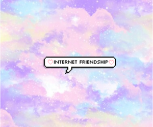 internet, friendship, and aesthetic image